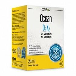 Orzax Ocean D3K2 Vitamin Damla 20ml